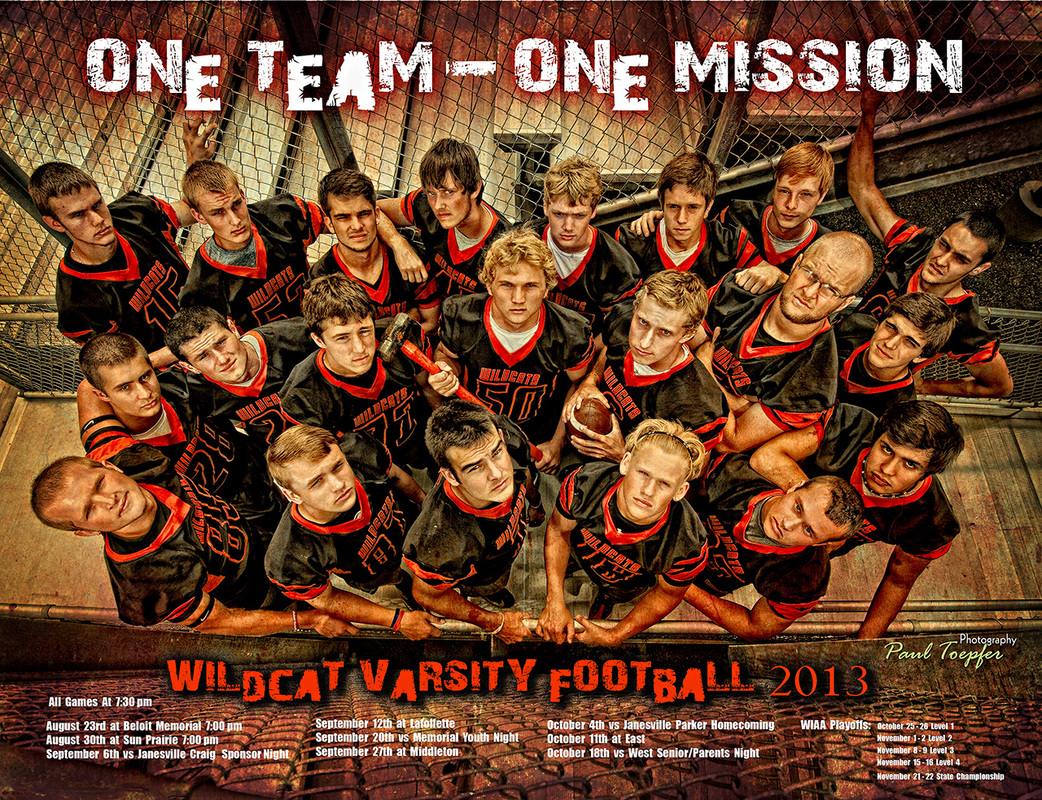 Professional Sports Club Or Group Posters Designed By Paul Toepfer Photography
