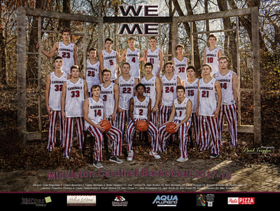Middleton Cardinal's 2017 Basketball Poster by Paul Toepfer Photography!