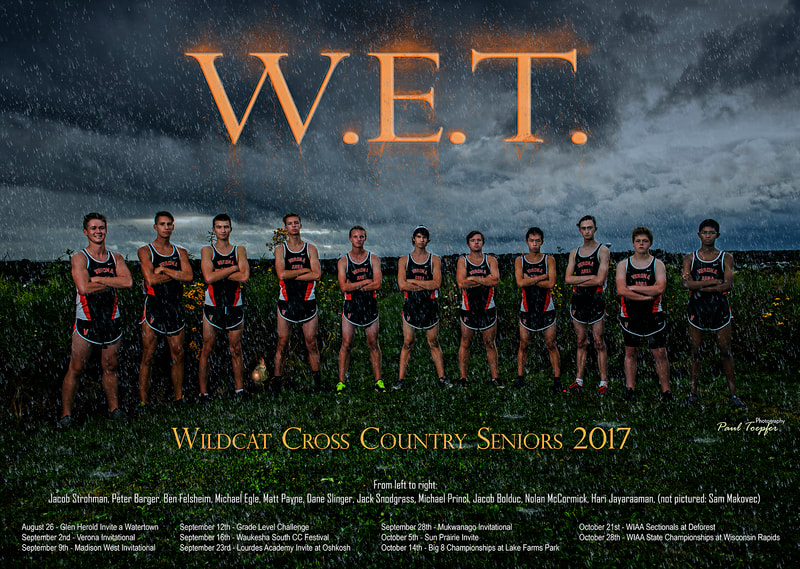 VAHS sports poster for Verona Area High School Cross Country Team by professional  photographer, Paul Toepfer, with Paul Toepfer Photography. Paul Toepfer is a premiere high school senior portrait photographer for Verona High School, Mt. Horeb High School, Middleton High School, Monona Grove High School, West High School, East High School, Memorial High School, LaFollette High School, Edgewood High School, Waunakee High School and Sun Prairie High School.